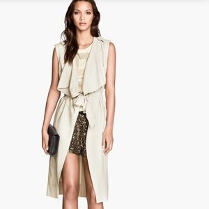 NWT H&M belted sleeveless trench coat